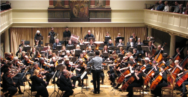 Bristol Concert Orchestra on stage at St George's Bristol